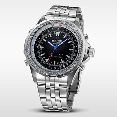 WEIDE Heren Polshorloge Digitaal horloge Kwarts Digitaal Japanse quartz Alarm Kalender Chronograaf Waterbestendig LED Dubbele tijdzones