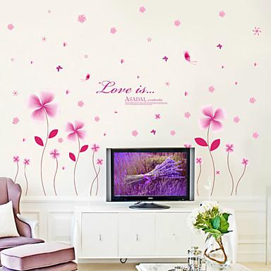 로맨스 패션 꽃 벽 스티커 플레인 월스티커 데코레이티브 월 스티커, 비닐 홈 장식 벽 데칼 벽