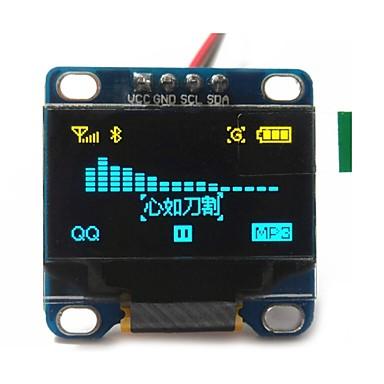 "billige Moduler-0.96 ""tommer gul og blå I2C IIC serielle 128x64 oled lcd oled førte modul til Arduino display 51 msp420 stim32 scr"