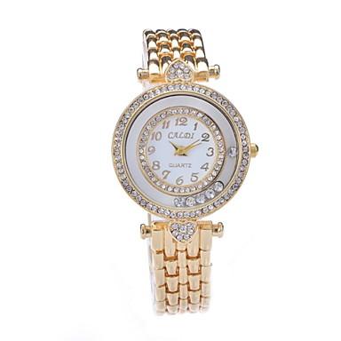 Női Divatos óra Szimulált Gyémánt Karóra Kvarc utánzat Diamond ötvözet Zenekar Sárga