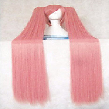 Fashion Pink Synthetic Hair Woman's Cosplay Wigs Super Long Straight Animated Wig Cartoon Full