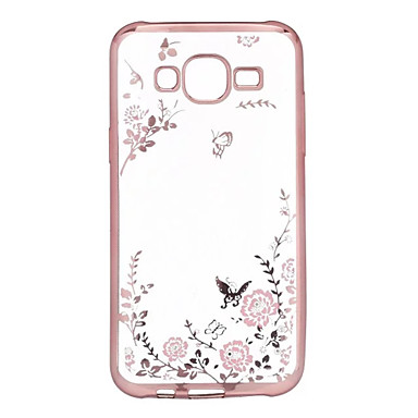 voordelige Galaxy A-serie hoesjes / covers-hoesje Voor Samsung Galaxy A7(2016) / A5(2016) / A3(2016) Strass / Beplating / Transparant Achterkant Bloem TPU