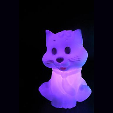 창조적 인 색상 변경 작은 고양이 다채로운 LED 야간 조명을