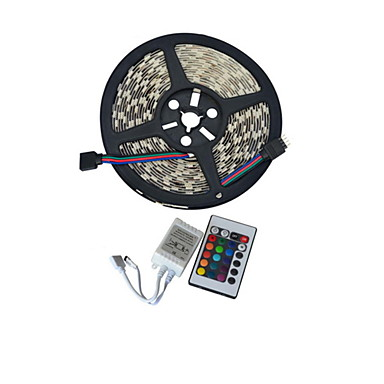 JIAWEN® 5 M 300 5050 SMD RGB Cortável / Conetável 60 W Faixas de Luzes LED Flexíveis DC12 V