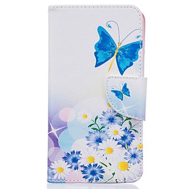 kék pillangó mintás kártya fedél lg k7 / k10 tokokhoz / borításokhoz lg