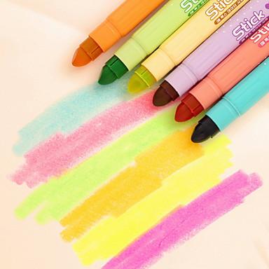 Markerek és kiemelők Toll Markerek Toll, Műanyag Piros Kék Sárga Bíbor Narancssárga Zöld Ink Colors For Iskolai felszerelés Irodaszerek