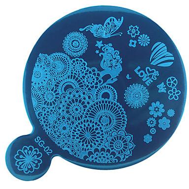 1pcs bélyegzés Plate Köröm pecsételő eszköz Köröm pecsételő sablon Napi Divat Jó minőség