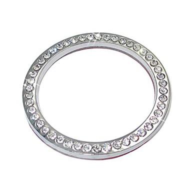 voordelige Auto-organizers-ziqiao auto decoratieve accessoires auto-knop switch knop diamanten ring