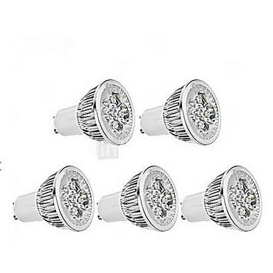 4W GU10 LED Spot Işıkları MR16 1 350-400 lm Serin Beyaz AC 85-265 V 5 parça