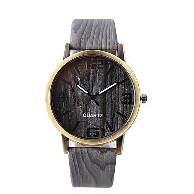 levne Pánské-Pánské Náramkové hodinky Křemenný Z umělé kůže Šedá / Khaki Hodinky na běžné nošení Analogové Přívěšky Dřevo - 4# 5# 6# Jeden rok Životnost baterie / Tianqiu 377