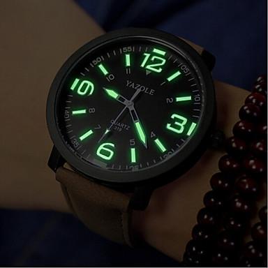 לזוג שעון יד קווארץ דמוי עור מרופד שחור / חום 30 m עמיד במים אנלוגי קסם אופנתי - שחור לבן ושחור לבן /  חום