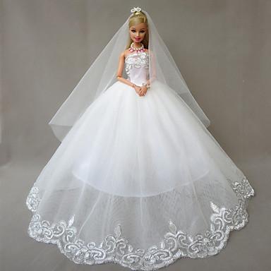 Esküvő Ruhák mert Barbie baba Ruhák mert Lány Doll Toy