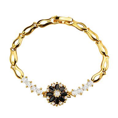Női Lánc & láncszem karkötők Kristály Kristály Cirkonium Arannyal bevont Aranyozott Ékszerek 1db
