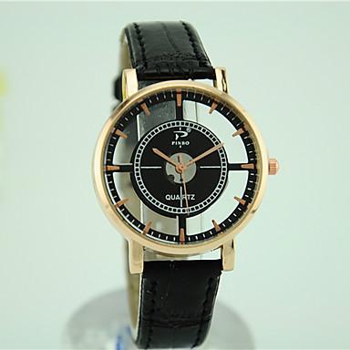 아가씨들 패션 시계 캐쥬얼 시계 석영 가죽 밴드 블랙 화이트 브라운 상표