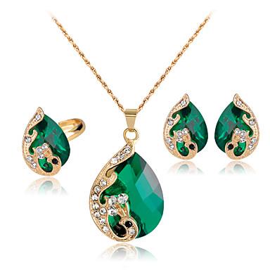4753331b5 Women's Crystal Jewelry Set Peacock Mood Ladies Party Indian fancy Crystal  Rhinestone Rose Gold Plated Earrings