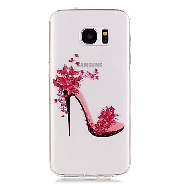 Kompatibilitás Samsung Galaxy S7 Edge tokok Átlátszó Minta Case Szexi lány mert Samsung Galaxy S7 edge S7 S6 edge S6 S5