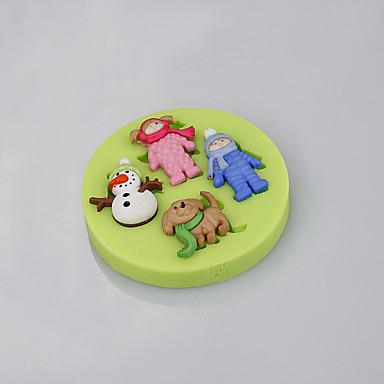 베이킹 몰드 만화 모양 초콜렛 파이 쿠키 케이크 실리콘 DIY 크리스마스 고품질