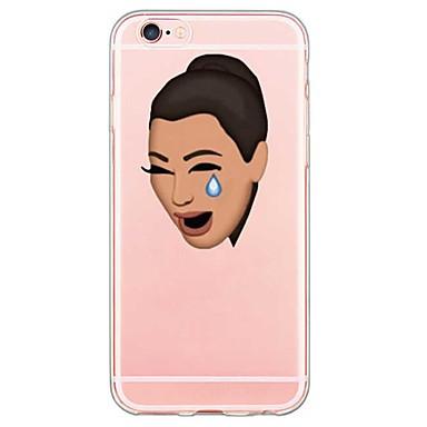 Kompatibilitás iPhone X iPhone 8 iPhone 5 tok tokok Ultra-vékeny Átlátszó Minta Hátlap Case Rajzfilm Puha Hőre lágyuló poliuretán mert