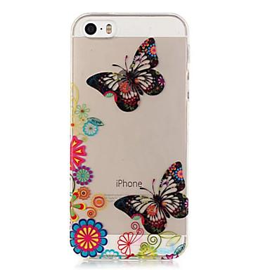 케이스 제품 아이폰5케이스 투명 패턴 뒷면 커버 버터플라이 소프트 TPU 용 iPhone SE/5s iPhone 5