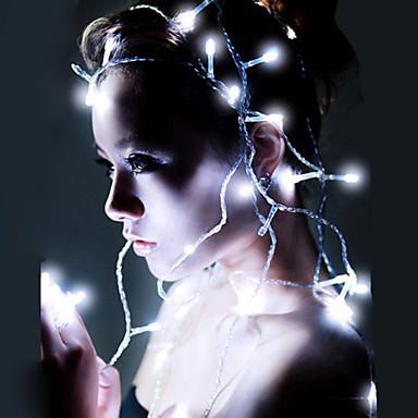 10m-es akkumulátor led csillogó világítás 80 LED-ekkel 3 db aa elem működik kültéri indoode decoartion omx tündér fények