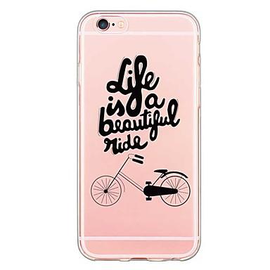 제품 아이폰6케이스 아이폰6플러스 케이스 케이스 커버 울트라 씬 투명 패턴 뒷면 커버 케이스 단어 / 문구 소프트 TPU 용 Apple iPhone 6s Plus iPhone 6 Plus iPhone 6s 아이폰 6