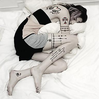 Tetkó matricák Ékszer-sorozat Állatos sorozatok Virág sorozat Totem sorozat rajzfilmsorozat Rajzfilm Női Férfi Felnőtt Tini flash-Tattoo