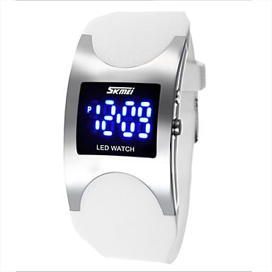 Páros Sportos óra Digitális LED Vízálló PU Zenekar Luxus Fekete Fehér Kék Pink Fehér Fekete Kék Rózsaszín