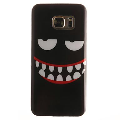 Case Kompatibilitás Samsung Galaxy Samsung Galaxy S7 Edge Minta Fekete tok Rajzfilm Puha TPU mert S7 edge S7 S6 edge S6 S5 Mini S5 S4
