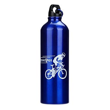 Sports Water Bottle Portable Recreational Cycling / Cycling / Bike / Mountain Bike / MTB Aluminium Alloy Silver / Red / Blue - 1pcs