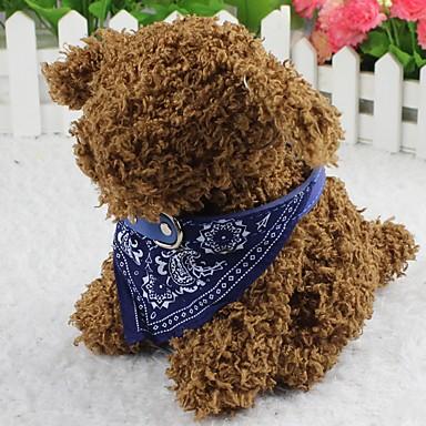 Kedi Köpek Yaka Fuları Moda Çiçek Kumaş Siyah Mor Kırmzı Mavi Pembe