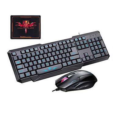 PC의 노트북 3 개 세트에 대한 보편적 인 사용의 USB 유선 게이밍 키보드 마우스 패드