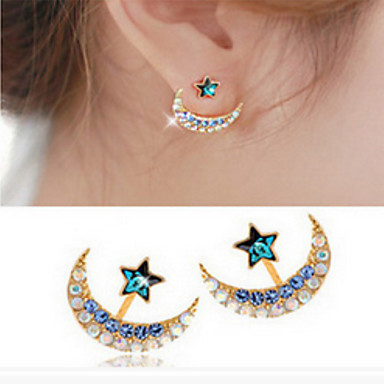 Női Beszúrós fülbevalók Divat Hamis gyémánt Ötvözet Zvijezda Ékszerek Napi Hétköznapi Jelmez ékszerek