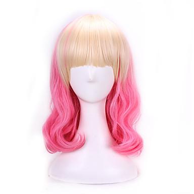 Γυναικείο Συνθετικές Περούκες Φυσικό Κυματιστό Ροζ Μαλλιά με ανταύγειες Lolita Wig Περούκες μεταμφιέσεων