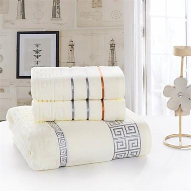 신선한 스타일 목욕 타올 세트, 솔리드 뛰어난 품질 면 100 % 뜨개질됨 수건