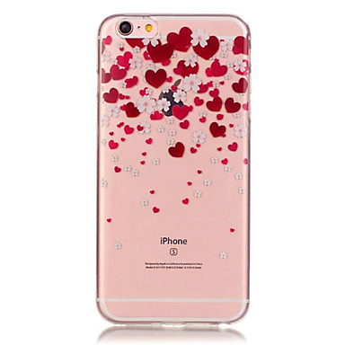 Case Kompatibilitás iPhone 6 Plus iPhone 6 Átlátszó Minta Hátlap Szív Puha TPU mert iPhone 6s Plus iPhone 6 Plus iPhone 6s iPhone 6