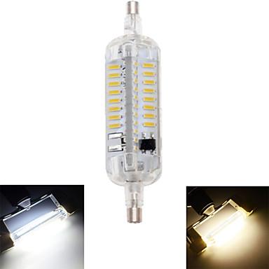 1pc 4 W 350-400 lm R7S LED Λάμπες Καλαμπόκι T 76 LED χάντρες SMD 4014 Αδιάβροχη / Διακοσμητικό Θερμό Λευκό / Ψυχρό Λευκό 220-240 V / 1 τμχ / RoHs