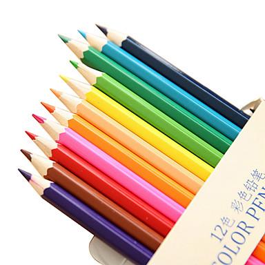 Ceruza Toll Színes ceruzák Toll, Fa Gumi Piros Fekete Kék Sárga Bíbor Narancssárga Zöld Ink Colors For Iskolai felszerelés Irodaszerek