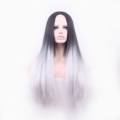 여성 인조 합성 가발 캡 없음 스트레이트 야키 코스플레이 가발 의상 가발