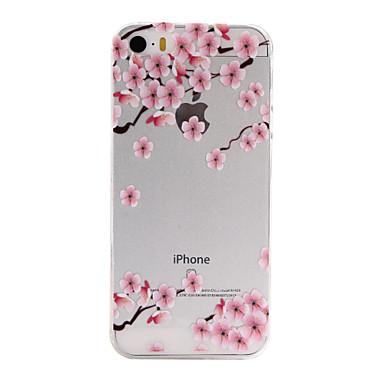 Case Kompatibilitás iPhone SE/5s/5 Apple iPhone 5 tok Ultra-vékeny Átlátszó Minta Hátlap Virág Puha TPU mert iPhone SE/5s iPhone 5