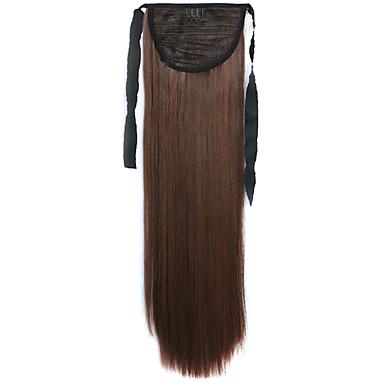 갈색 직선 혼합 긴 직선 머리 가발 피부색 4A / 30B