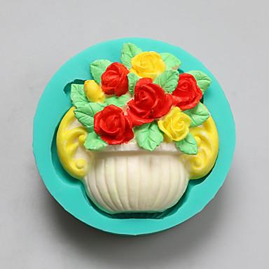 꽃 모양 초콜릿 실리콘 몰드, 케이크 금형, 비누 몰드, 장식 도구 목록 bakeware의 바구니