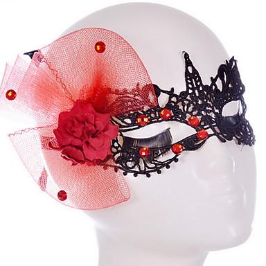 Sey stílusú fekete / fehér csipke maszk halloween party dekoráció masker álarcosbál