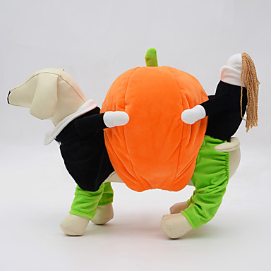 Hund Kostüme Hundekleidung Cosplay Halloween Solide Orange Kostüm Für Haustiere