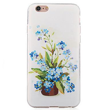 용 아이폰6케이스 아이폰6플러스 케이스 케이스 커버 충격방지 뒷면 커버 케이스 꽃장식 소프트 TPU 용 Apple iPhone 6s Plus iPhone 6 Plus iPhone 6s 아이폰 6