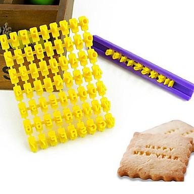 forró eladó ábécé számú cookie-keksz írni bélyeg embosser fondant torta díszítő forma fékezés vágó véletlenszerű szín