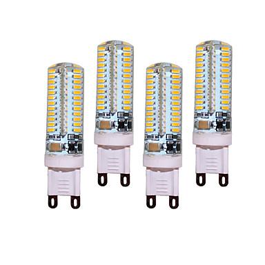 4 개 5W 450 lm G9 LED Bi-pin 조명 T 104 LED가 SMD 3014 장식 따뜻한 화이트 차가운 화이트 AC 200-240V AC 220-240V