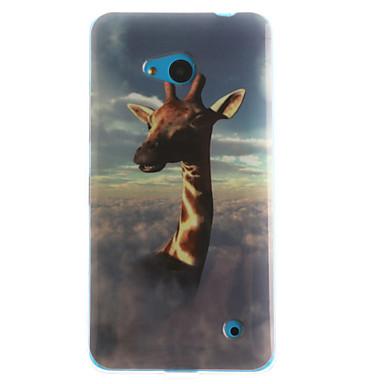 용 노키아 케이스 패턴 케이스 뒷면 커버 케이스 동물 소프트 TPU Nokia Nokia Lumia 630 / Nokia Lumia 530