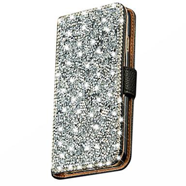 wallet stand bling kristal diamant lederen tas hoes voor de Samsung Galaxy j5