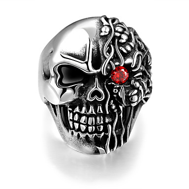 Ανδρικά Δαχτυλίδι Πανκ Ευρωπαϊκό Ανοξείδωτο Ατσάλι Κρανίο Κοσμήματα Halloween Δώρο Καθημερινά Causal Αθλητικά