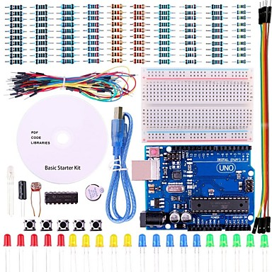 cheap Arduino Accessories-UNO Project Basic Starter Kit with Tutorial and UNO R3 for Arduino